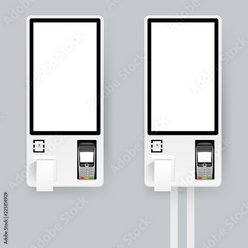 Self-ordering and self payment kiosk for fast food chains, restaurants and retailers Wallpaper Mural