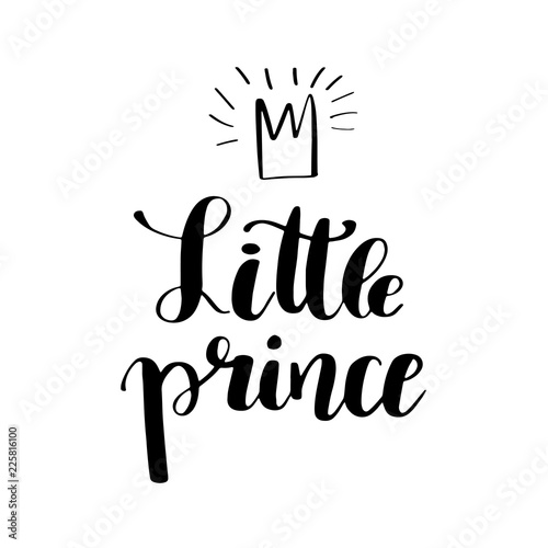 Fototapeta Hand drawn lettering quote Little prince