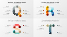 Vector Alphabet Infographic 3D...