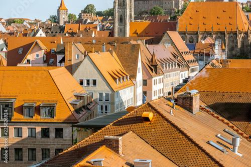 Foto op Plexiglas Europese Plekken Morning cityscape view on Nurnberg city, Germany