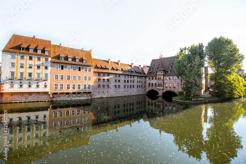 Foto op Plexiglas Europese Plekken Riverside of the old town in Nurnberg, Germany