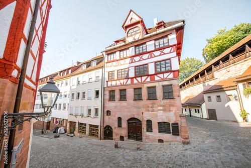 Foto op Plexiglas Europese Plekken Half-timbered houses in Nurnberg, Germany