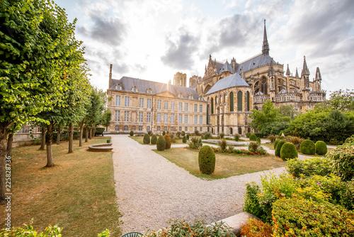 Cadres-photo bureau Con. ancienne Gardens in Reims city, France