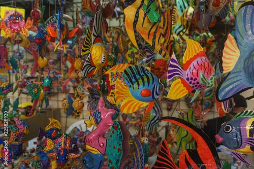 Habana, Cuba - 09 January, 2017: cuba national ornaments shop Wallpaper Mural