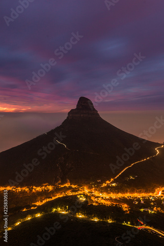Cape Town Table Mountain Sunset city