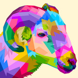 colorful sheep on pop art style - 225832168