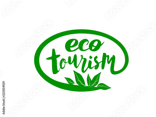 Fotografie, Tablou  Vector handwritten lettering for logo of eco tourism