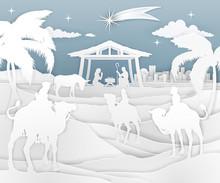 A Nativity Christmas Scene In ...