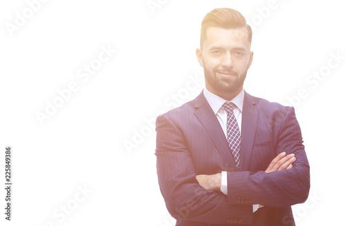Obraz na plátně  in full growth. businessman arms folded