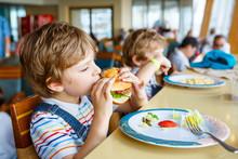 Cute Healthy Preschool Boy Eat...