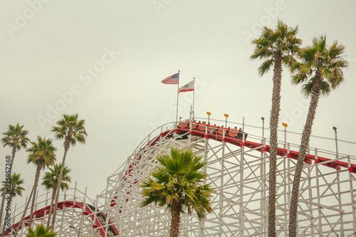 Poster Amusementspark Big Dipper at funfair, California, USA