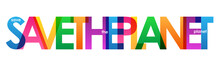 SAVE THE PLANET Typography Banner