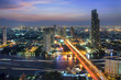 Evening light in the city on Bangkok,Thailand.