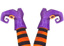 Witch Leg Watercolor Halloween...