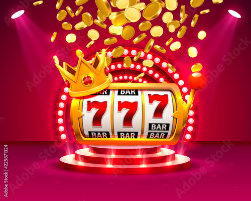 Fotografia  Big win slots 777 banner casino. Vector illustration
