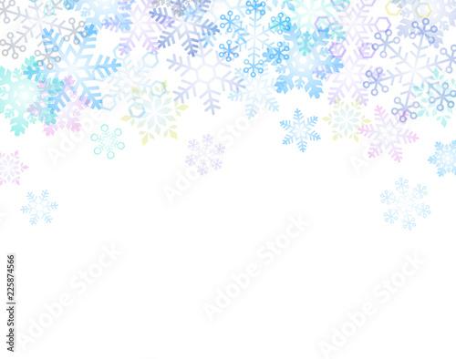 Fotografiet  雪の結晶 背景イラスト