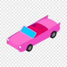 Car Convertible Isometric Icon 3d On A Transparent Background Vector Illustration
