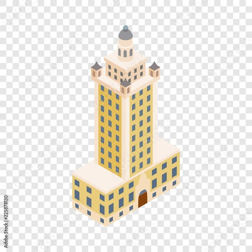Photo  Freedom tower in Miami isometric icon 3d on a transparent background vector illu