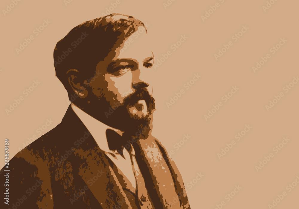Fototapeta Portrait de Claude Debussy, célèbre musicien, compositeur français