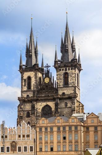 Photo  Tyn church in Prague