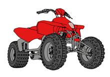 Red Quad Bike Vector