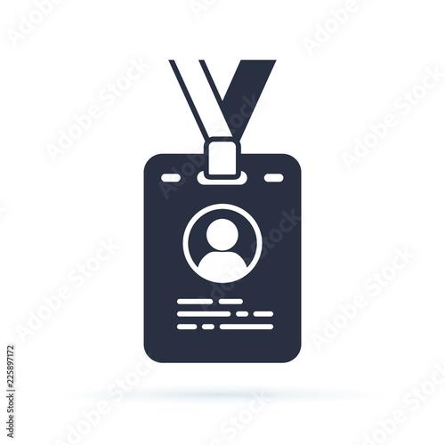 Obraz na płótnie Press card outline icon
