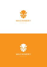 Robot Machinery Logo Template.
