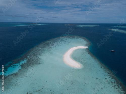 Fotografie, Obraz  Sandbank aerial view Maldives