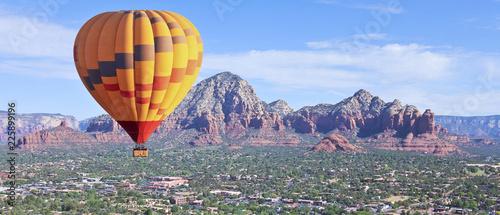 A Hot Air Balloon Soars Above Sedona, Arizona