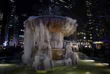 Frozen Fountain In Bryant Park...
