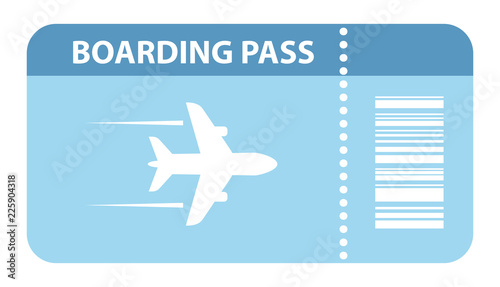 Fotografía  Airplane boarding pass icon