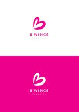 Butterfly Wings Logo Template.