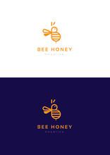 Bee Honey Logo Template.