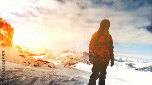 Fotobehang Wintersporten Winter adventure