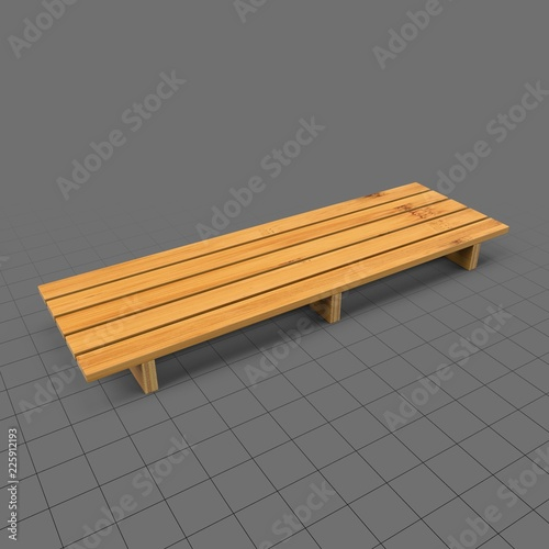 Bamboo shelf with slats  Buy this stock 3d asset and explore