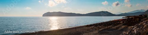 Fotografia Tyrrhenian sunset sea beach, Campania, Italy