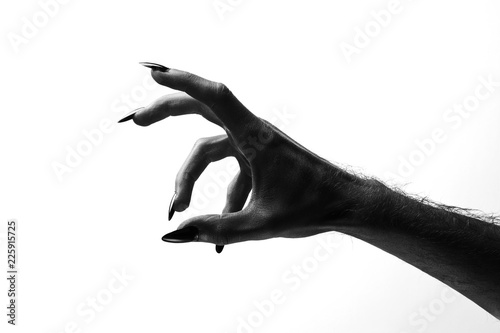 Cuadros en Lienzo Black creepy halloween monster hand with long nails