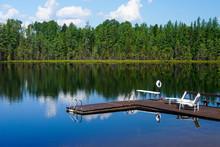 Lake Lac Perron Dock And Loung...