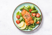 Baked Salmon Fish Fillet With ...