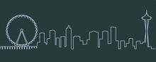 Seattle Single Line Skyline