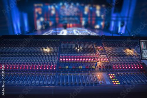 Fotografie, Obraz  sound equipment at the concert