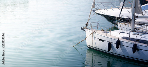 Photo  Modern, elegant and luxury sail boat; lifestyle and travel concepts