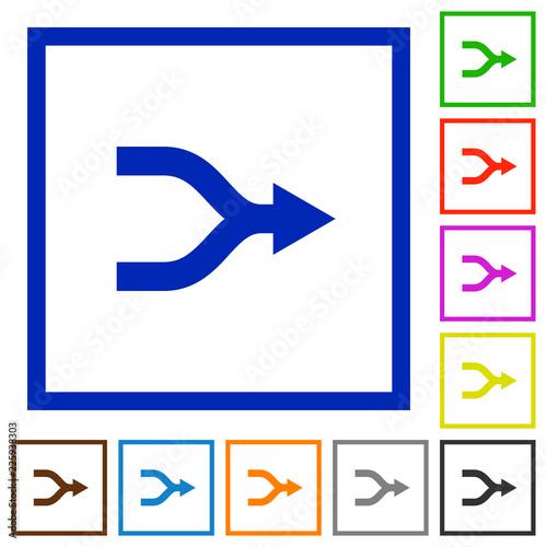 Photo Merge arrows flat framed icons