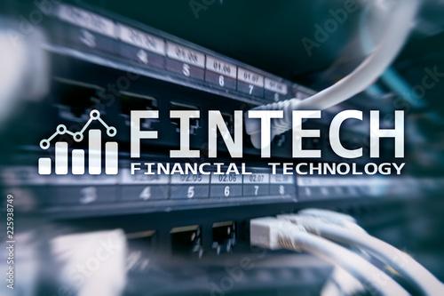 Poster New York Fintech - Financial technology. Business solution and software development.