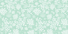 Mint Green Underwater Seaweed Seamless Pattern. Great For Marine Inspired Fabric, Invitations, Wallpaper, Giftwrap Projects.