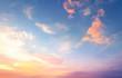 Leinwandbild Motiv World environment day concept: Sky and clouds autumn sunset background