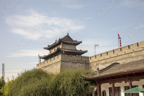 Old south wall and pagoda, Xian, China