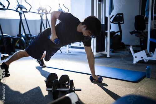 Fotografie, Obraz  ダンベルを使ったトレーニング