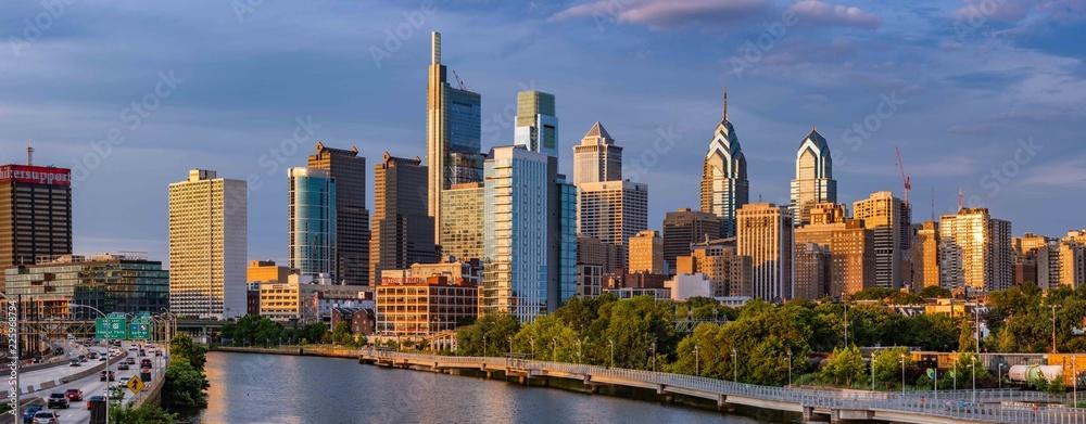 Fototapety, obrazy: Philadelphia Skyline