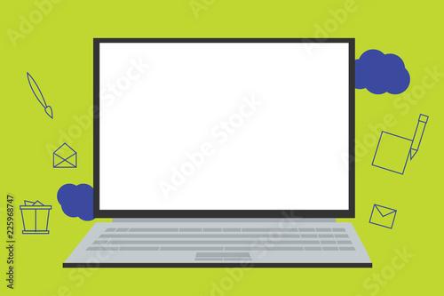 Flat Design Business Vector Illustration Empty Template